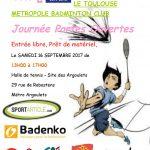 Journée Portes Ouvertes le 16 septembre 2017 – essayez le Badminton !